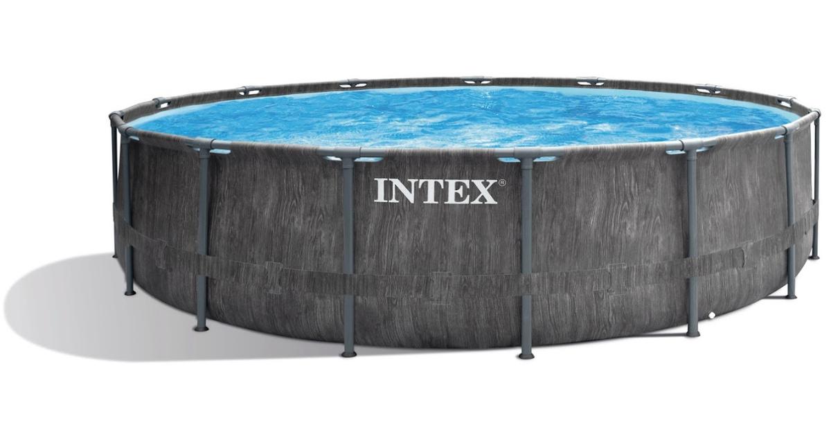 INTEX Frame Pool Prism Greywood Ø 457 x 122 cm [Lieferzeit 1-2 Wochen]