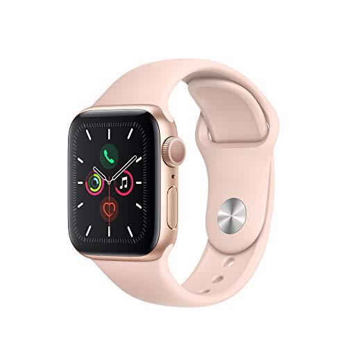 Apple Watch Series 5 GPS 40mm Aluminium gold Sportarmand sandrosa für 335,85 €