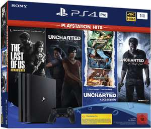 Sony PlayStation 4 Pro (1TB) PS Hits Naughty Dog Bundle inkl. The Last Of Us: Remastered Hits + Uncharted Collection für 325,89€ [Amazon]