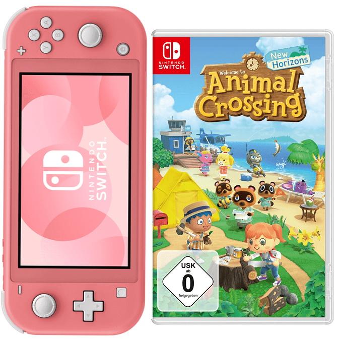 Gaming-Angebote bei MediaMarkt: z.B. Nintendo Switch Lite + Animal Crossing: New Horizons   Xbox Controller + Wireless Adapter - 48,81€