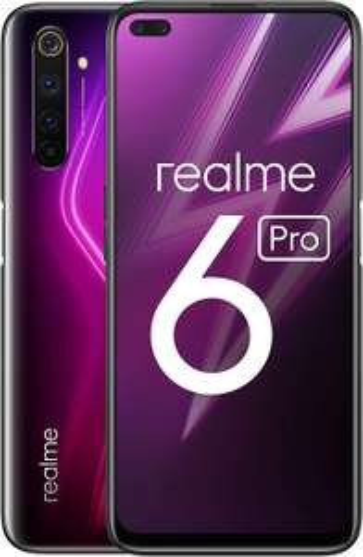 Realme 6 Pro 6,6 Zoll FHD+ Display DualSIM Smartphone 8GB RAM + 128GB ROM Quad-Kamera Lightning Rot
