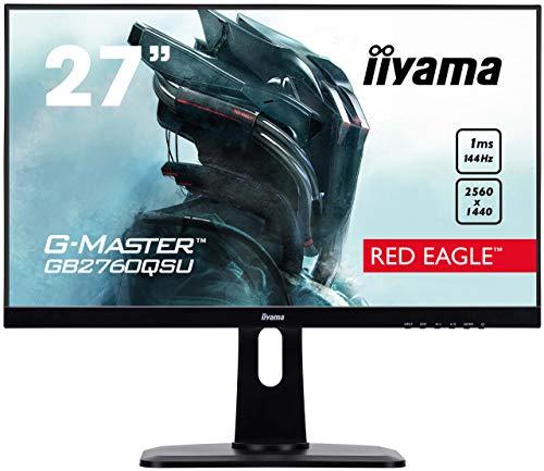 iiyama G-MASTER Red Eagle GB2760QSU-B1 (27 Zoll, WQHD, 144Hz, TN, USB 3.0, Pivot, AMD FreeSync)
