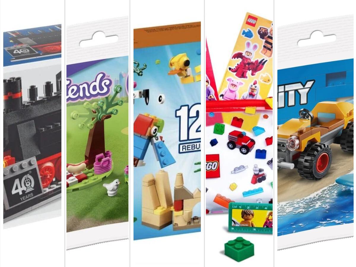 [Lego] 5 verschiedene Gratis Zugaben im Juli MBW 35 – 99€