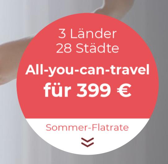 Hotel Flatrate - 2 Monate Urlaub für 6,40 Euro je Nacht in Deutschland, Österreich und Ungarn