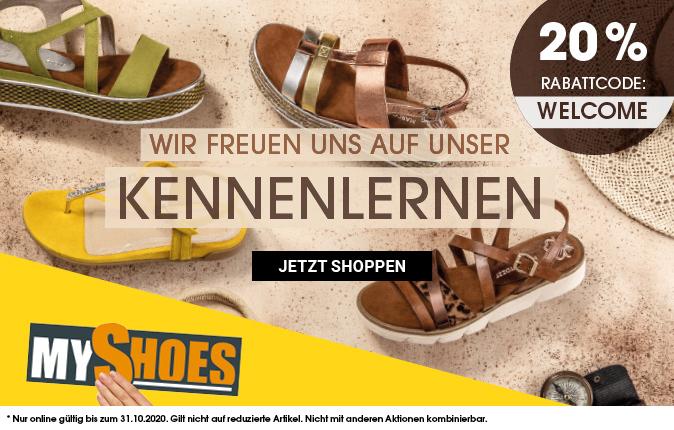 [MyShoes] Jetzt 20% Rabatt bei Bestellung bis 31.10.2020
