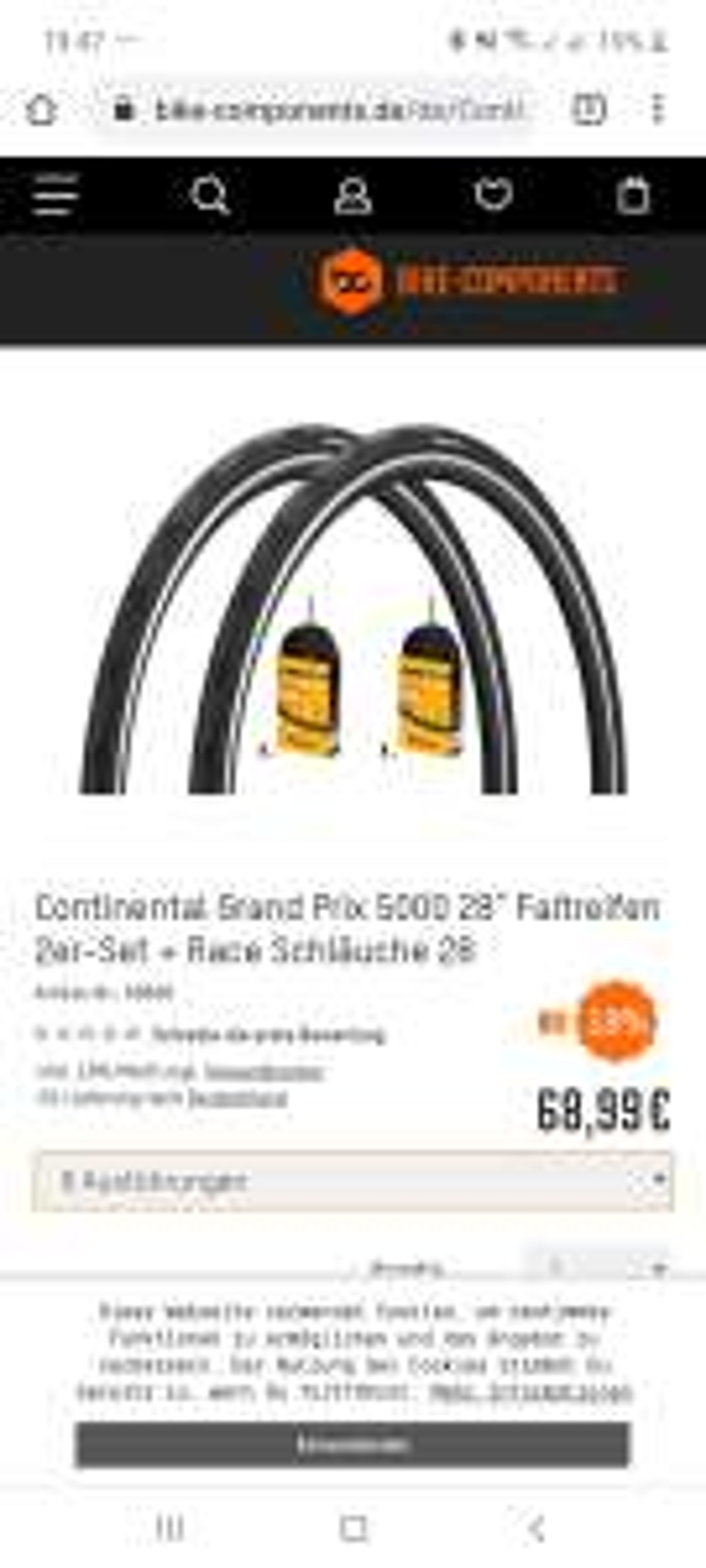 2 x Continental Grand Prix 5000 Rennrad Reifen 23er 25er und 28er zusätzlich 2 x Continental Race Schlauch 700 x 28c