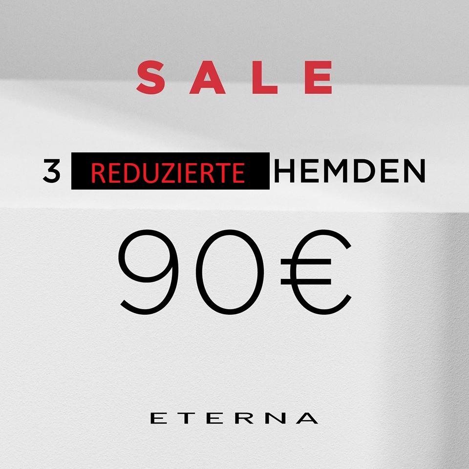 Eterna Brand Stores : 3 Hemden für 90€ (offline)