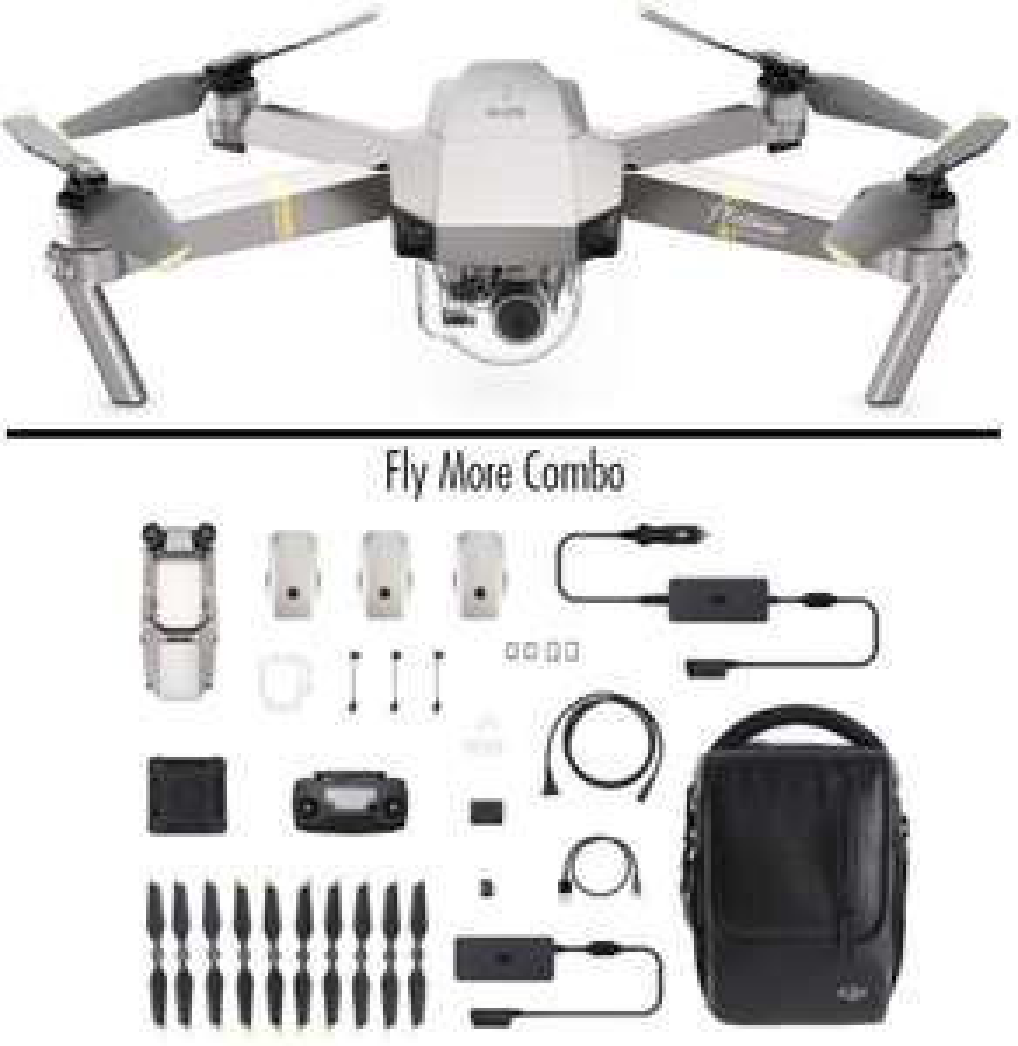 DJI Mavic Pro Platinum Fly More Combo - Drohne mit 4K Full-HD Videokamera inkl. Zubehör [Amazon]