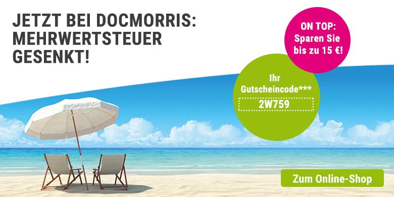 [DocMorris Apotheke] Mit dem Rabattcode 2W759 bis zu 15 Euro sparen