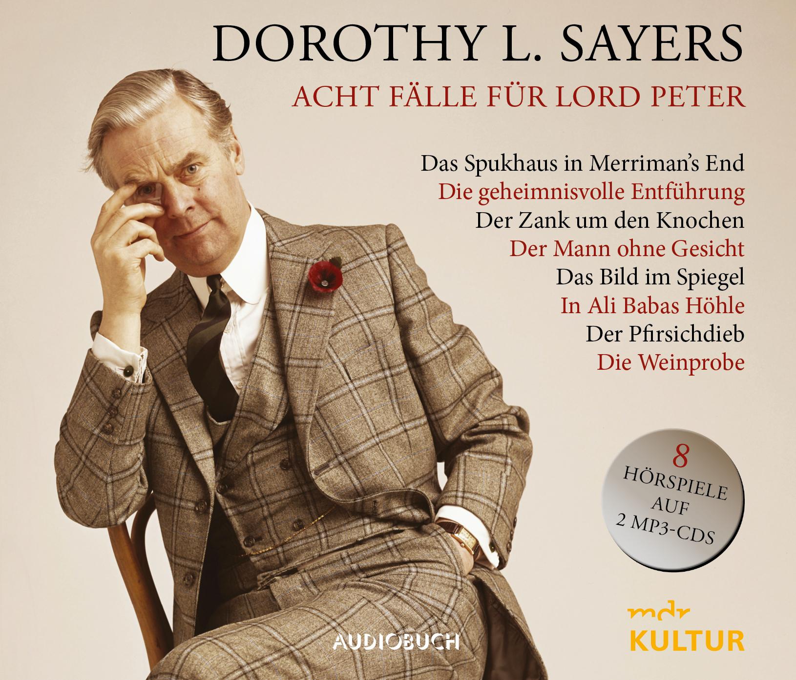 """Gratis / Kostenlos: Audiobuch-Hörspiel-Reihe """"Dorothy L. Sayers • Acht Fälle für Lord Peter"""" als mp3s beim MDR bzw. in der ARD-Audiothek"""