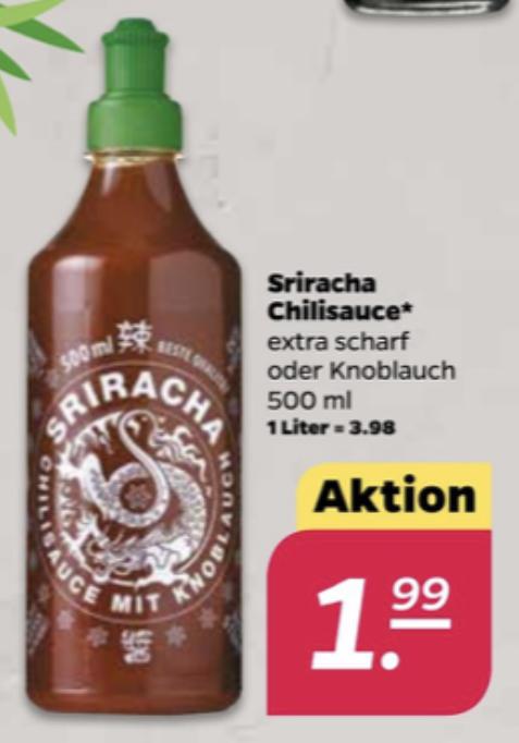 Sriracha Chilisauce 500ml extra scharf o. Knoblauch für 1,99€ / Kay Li Sweet Chili Sauce 700ml für 1,75€ - Netto Scottie ab 06.07.