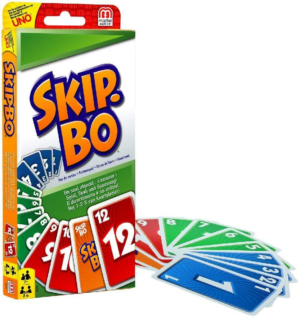 [Amazon Prime] Mattel Games 52370 Skip-Bo Kartenspiel und Familienspiel geeignet für 2 - 6 Spieler, Spiel ab 7 Jahren