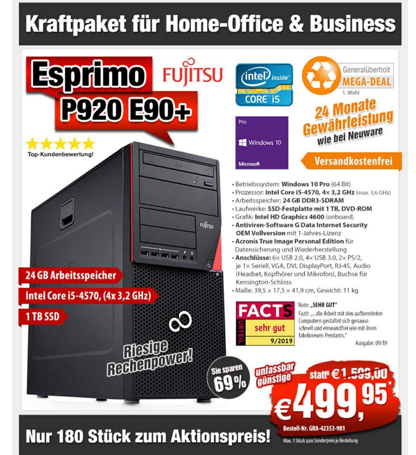 Tower PC Fujitsu Esprimo P920 E90+