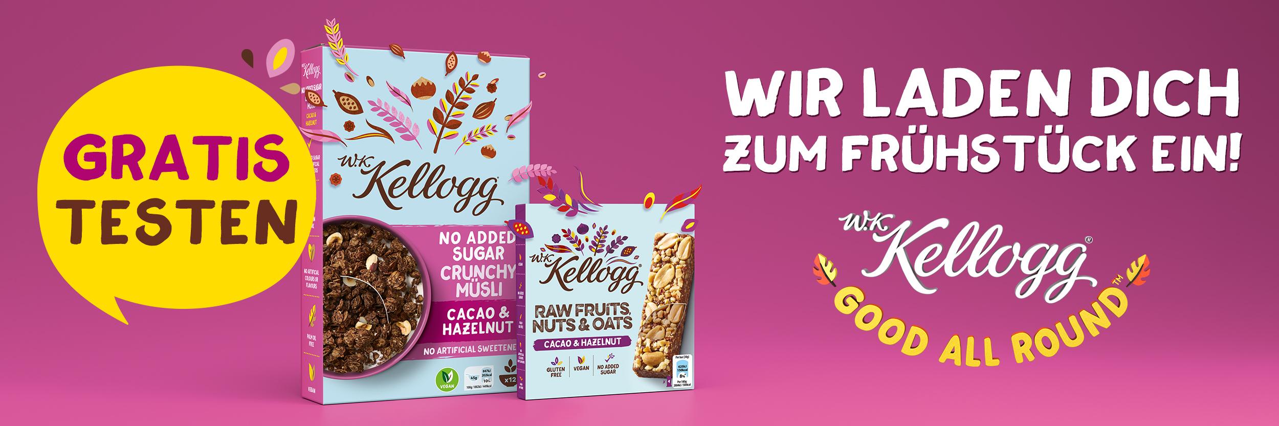 25.000x GzG - Kellogg Cerealien- und Knuspermüslis , gültig bis 31.07.2020