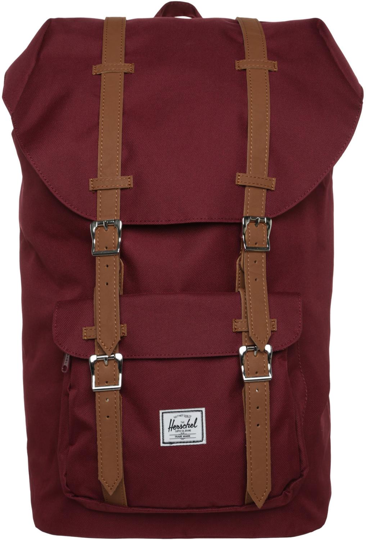 Herschel Little America Backpack (25 Liter, H49,5cm x B28,6cm) in grau, weinrot oder navy