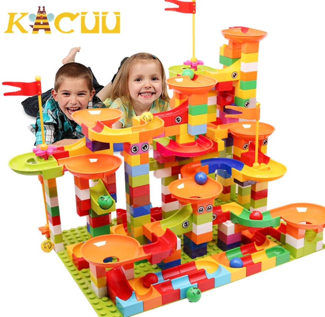 Kugelbahn mit Lego Duplo kompatibel 296 Teile