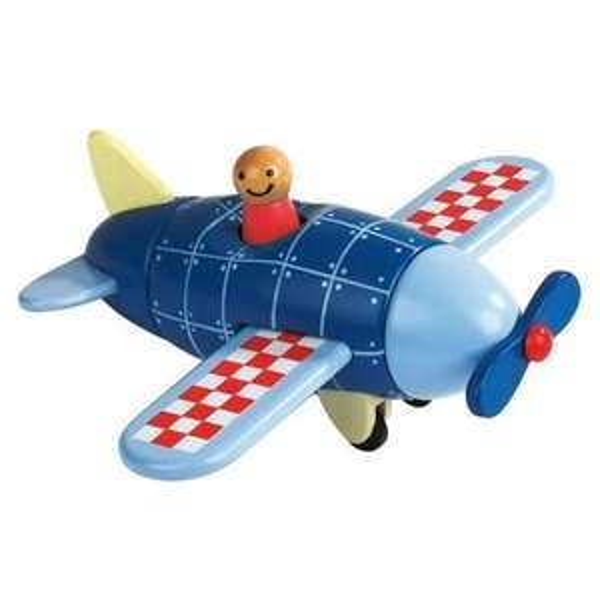Magnetbausatz Flugzeug aus Holz mit 6 Teilen für Kids ab 2 Jahren