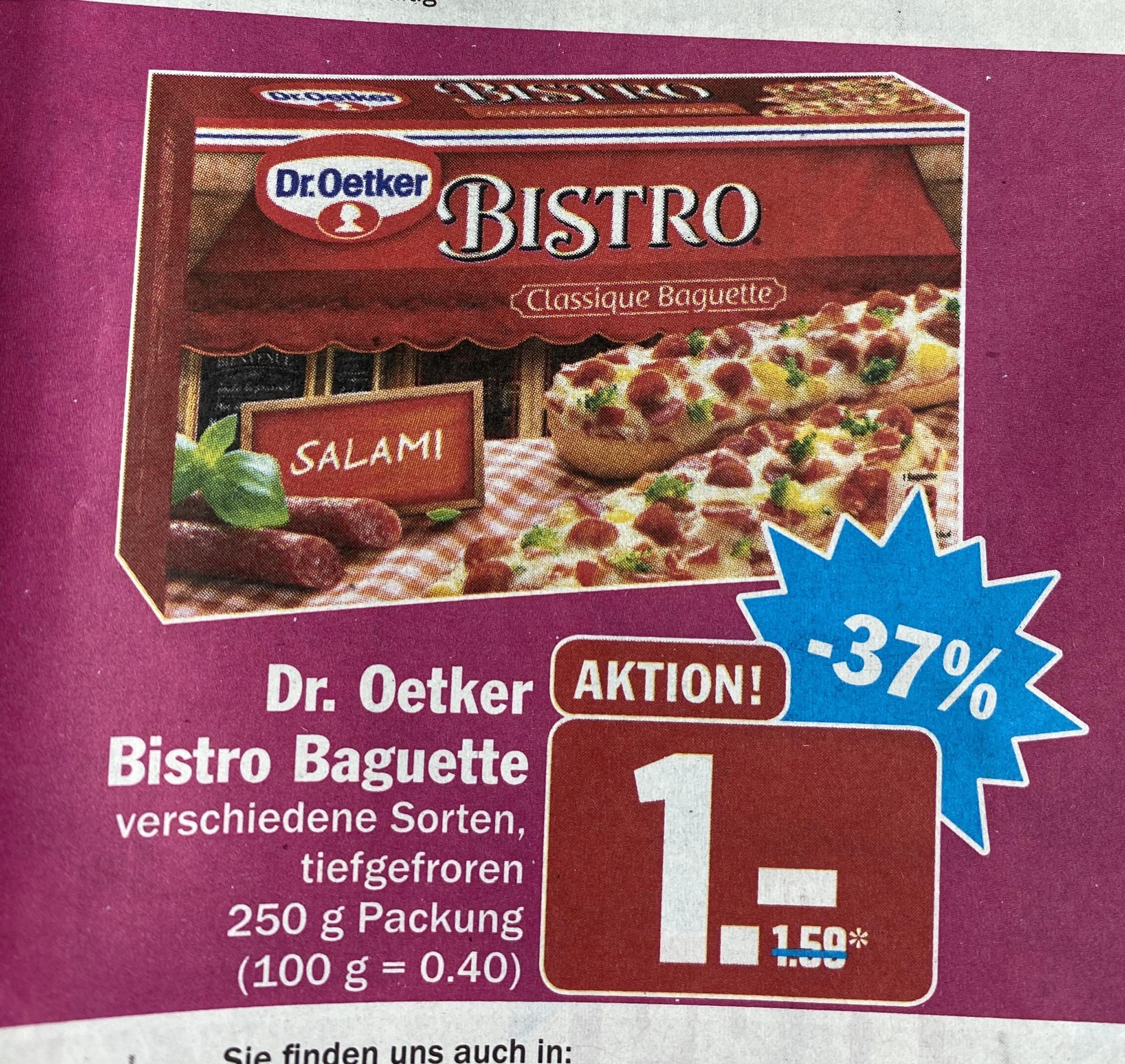 Dr. Oetker Bistro Baguette bei Hit für 1€