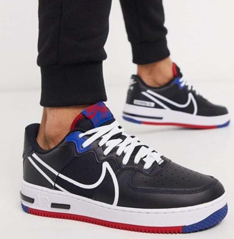 (asos.com) Nike Air Force 1 React (schwarz)