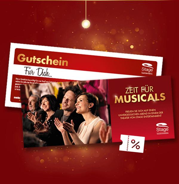 20%-Rabatt auf Gutscheine bei stage-entertainment (50€ Gutschein für 40€, 100€ für 80€ und 150€ für 120€)