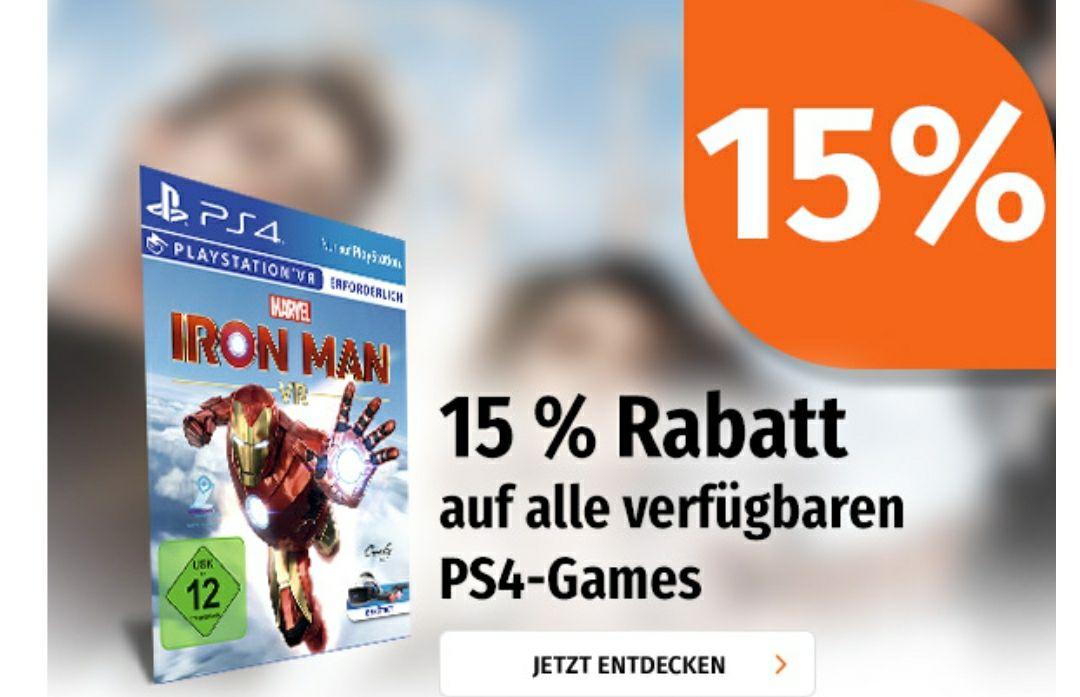[Müller] 17,55 % Rabatt auf Playstation 4 Games abzgl. 5 EUR durch die App, z.B. Red Dead Redemption 2 oder The Outer Worlds für 15,60 EUR