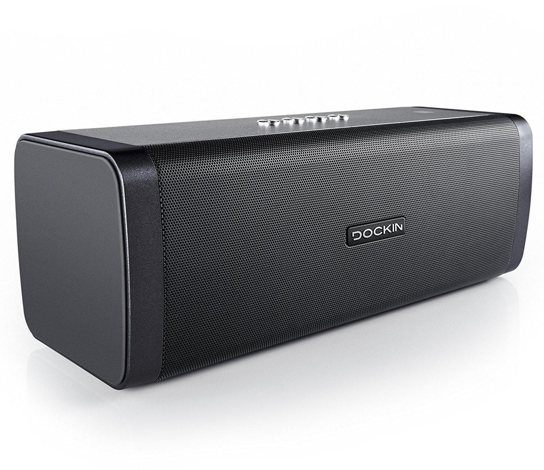Dockin D Fine Bluetooth-Lautsprecher (50W, Bluetooth 4.0, AUX-In, ~10h Akkulaufzeit, Powerbank-Funktion, spritzwassergeschützt, 1.93kg)