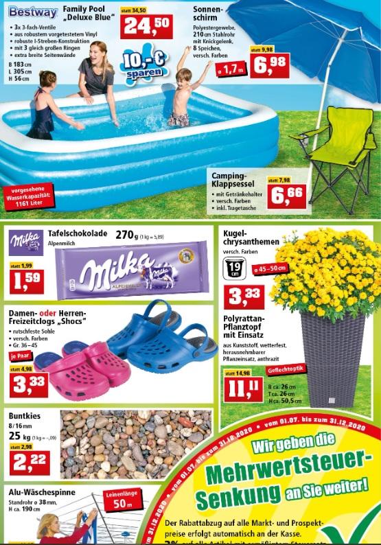[Thomas Philipps KW28] Milka 270g 1,55€ I Buntkies 25 kg 2,16€ I Wäschespinne 50m 16,45€ I Bestway Pool 23,77€ I Camping Klappsessel 6,46€