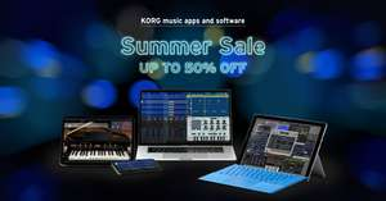 Summer Sale bei KORG, alle Musik Apps & Softwareprodukte mit Rabatten von bis zu 50% [Musik Apps]