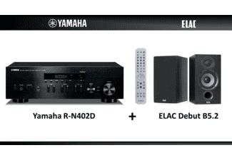 MusicCast Stereo Receiver Yamaha R-N402D + Regallautsprecher Elac Debut B5.2 für 486,42€ versandkostenfrei (Saturn & Media Markt)