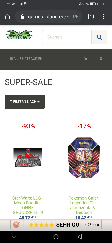 Games Island Super Sale - Viele Kartenhüllen, Spielmatten, Deckboxen uvm. zu guten Preisen