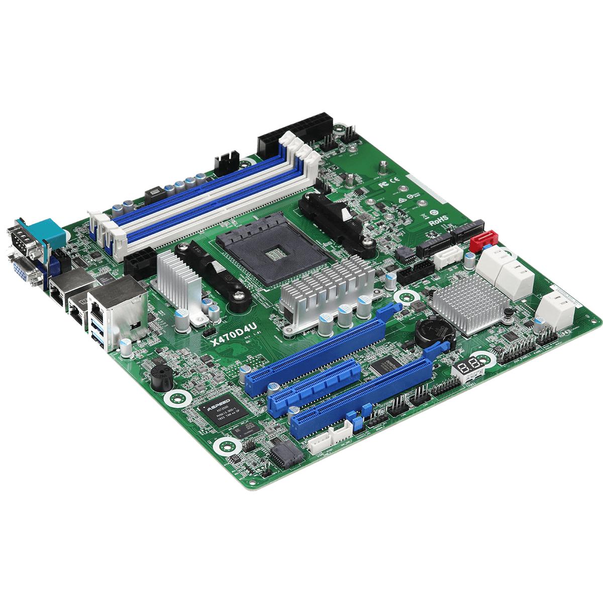 ASRock Rack X470D4U AMD AM4 µATX Mainboard für Ryzen Server