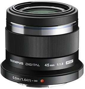 Olympus M. Zuiko Digital 45mm f1.8 Objektiv für 147.52€ (Amazon.fr)
