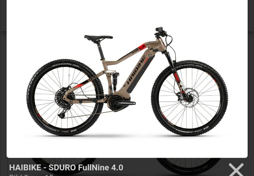 E-Bike Haibike sduro Fullnine 4.0, noch alle Größen .Schneller versand !!