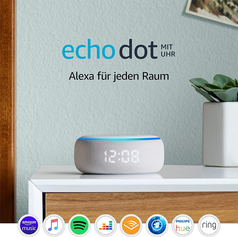 Echo Dot (3.Gen.) – smarter Lautsprecher mit Uhr und Alexa [Amazon]
