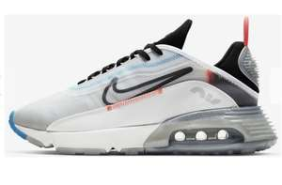Nike Air Max 2090 white/pure platinum/bright crimson/black Größe 38.5 - 40.5