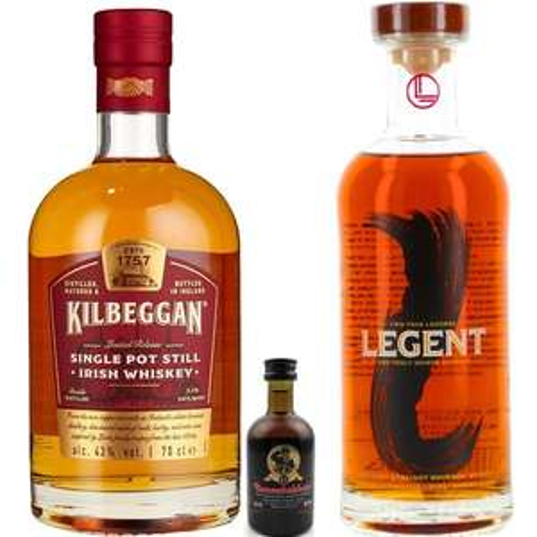 Whisky-Übersicht #35: z.B. Kilbeggan Single Pot Still + Bunnahabhain 12 0.05l für 30,40€, Legent Kentucky Bourbon für 42,50€ inkl. Versand