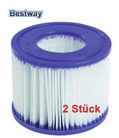 (Globus) 2 Stück Bestway Lay-Z-Spa Antimikrobielle Filterkartuschen Gr. VI