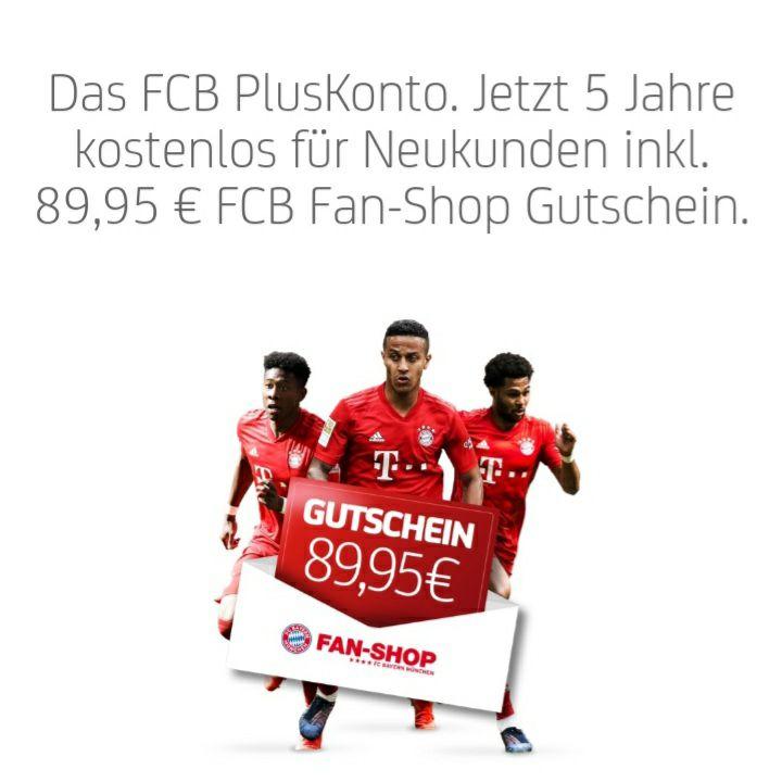 [Hypovereinsbank] FC Bayern München PlusKonto, Giro + KK 5Jahre für 5€/Jahr: FCB Shop-GS 89,95€ + zusätzlich 50€ Amazon bei 3xGehaltseingang