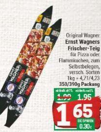 [Marktkauf Minden-Hannover] Wagner Frischer Teig mit Coupon für 1,15€