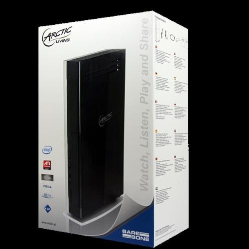 lüfterloses HTPC Barebone 103€ Dualcore-Atom USB3.0  DVB-T-Tuner Arctic MC001-N Mini-Server