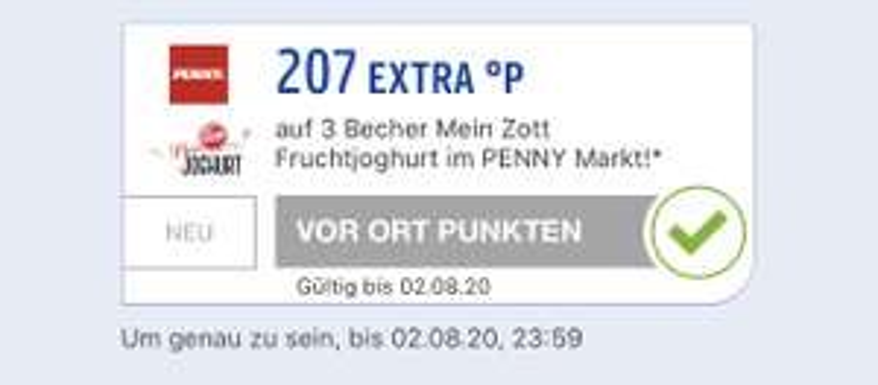 [Penny] 3 Becher Mein Zott Fruchtjoghurt mit Payback für 0.00€ ( personalisiert )