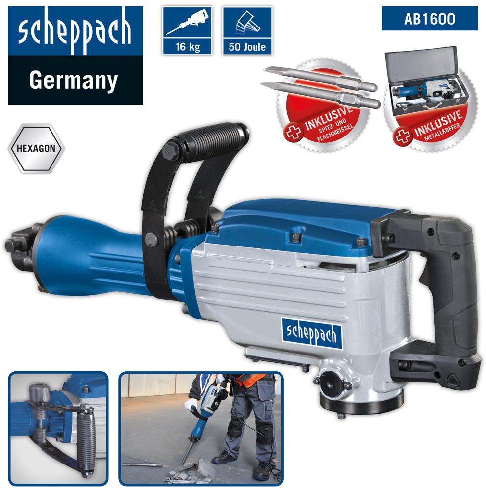 Scheppach Abbruchhammer AB1600 1.6kW 230V50Hz