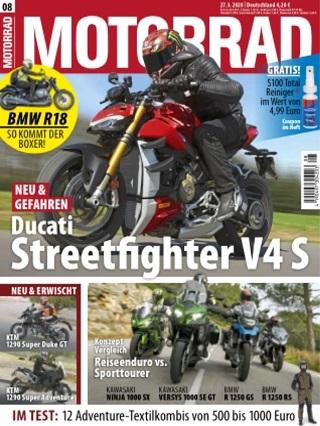 Motorrad Abo (26 Ausgaben) für 113,30 € mit 80 € BestChoice-Universalgutschein oder 90 € Otto/ Zalando-Gutschein(Kein Werber nötig)