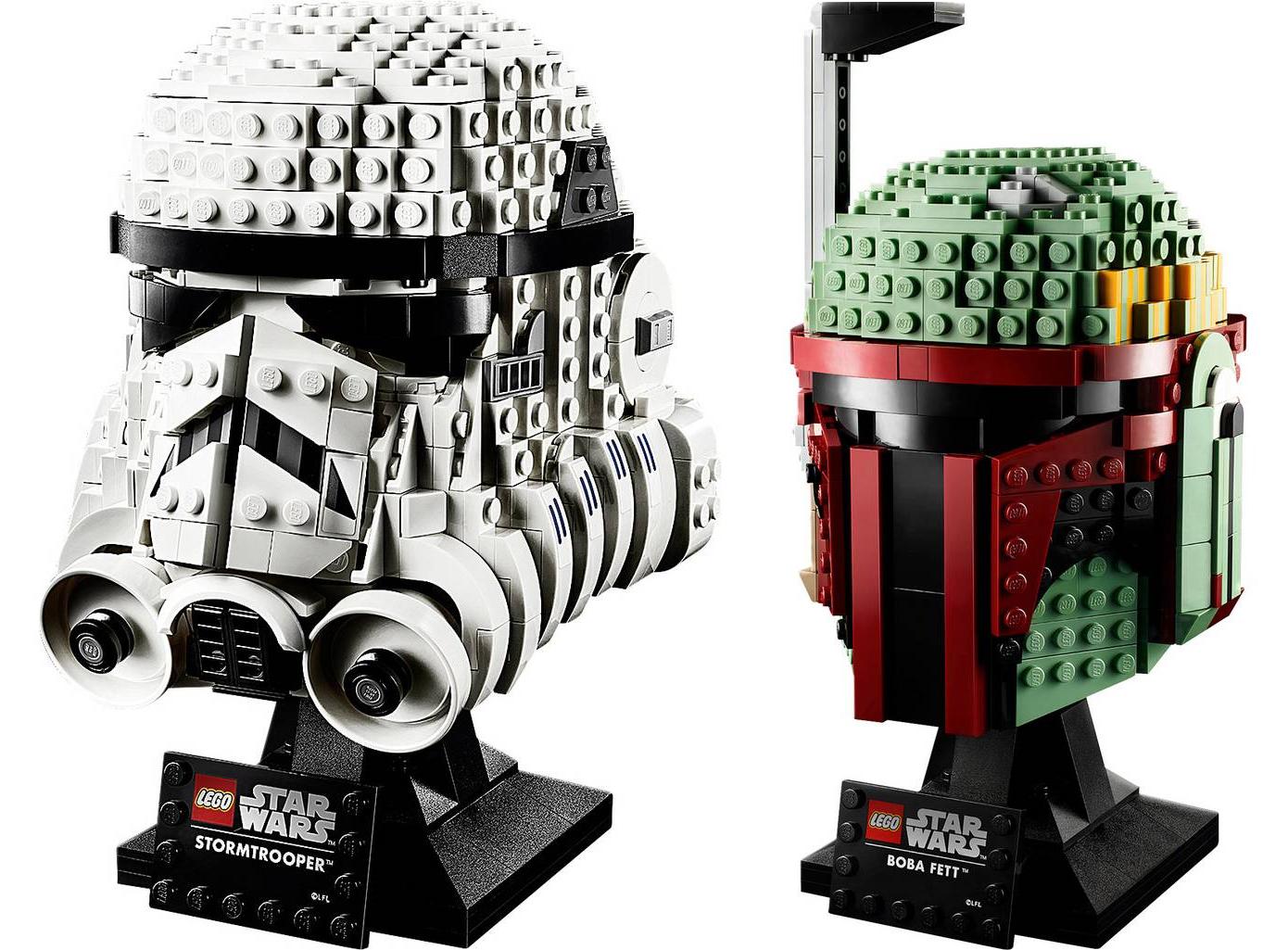 """LEGO STAR WARS Stormtrooper Helm 75276 & Boba Fett Helm 75277 jeweils für 42,78 € bei Zahlung mit """"Sofort."""""""