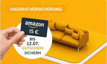 [HUK24] Hausratversicherung bis 19.07. abschließen und 15 € Amazon.de Gutschein sichern / KWK bis 30€ möglich