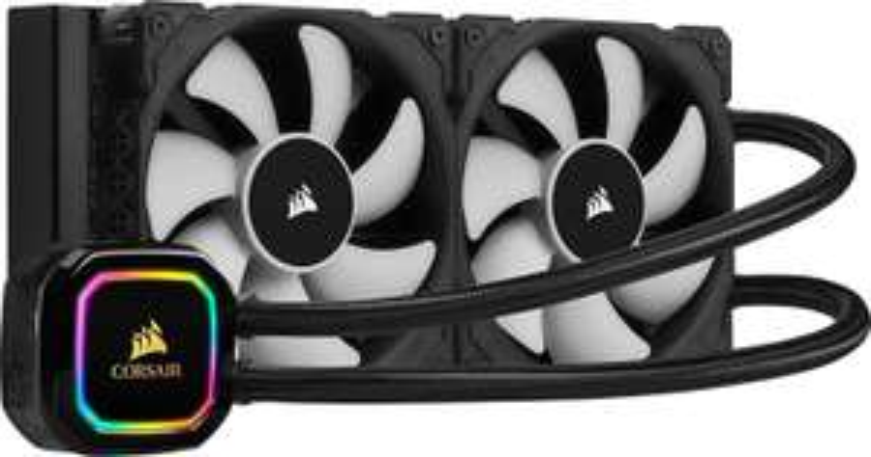 Corsair iCUE H100i RGB PRO XT CPU-Wasserkühlung (240-mm, 2x 120-mm ML PWM-Lüfter, 400-2.400 RPM, Dynamischer Multi-Zone-RGB-Pumpenkopf)