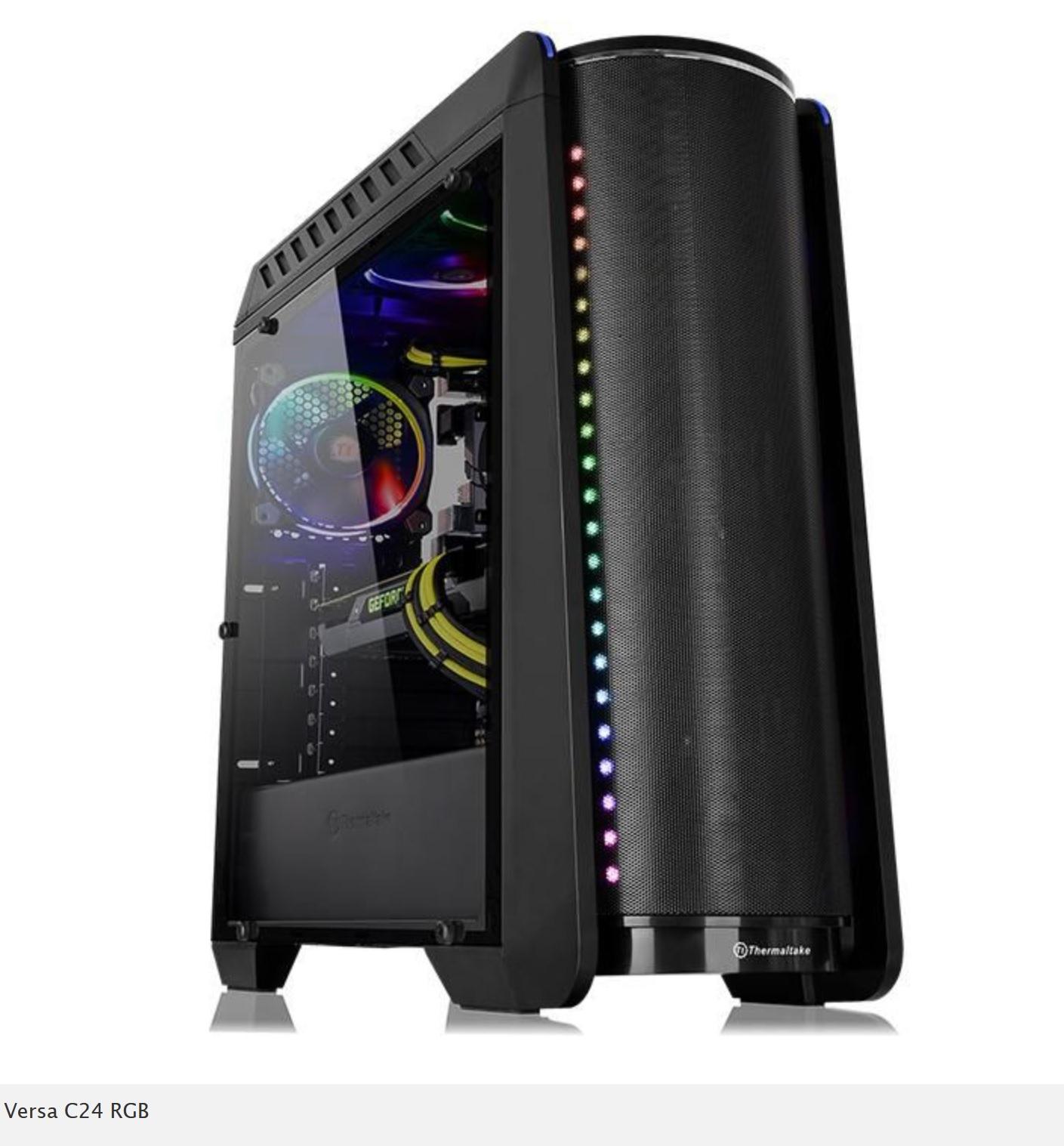 THERMALTAKE Versa C24 PC-Gehäuse mit RGB in Schwarz