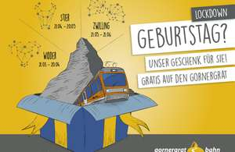 [lokal Schweiz] Gratis auf den Gornergrat für alle die zwischen dem 21.03 – 21.06.2020 Geburtstag hatten