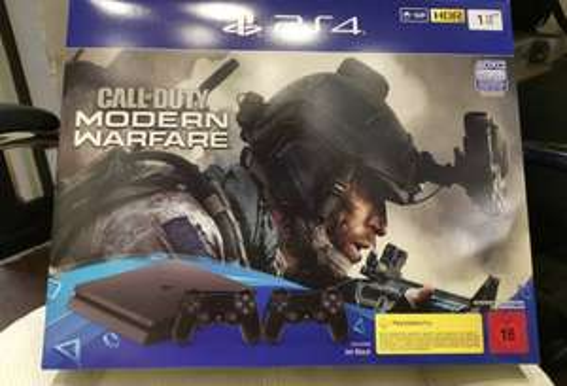Sony PlayStation 4 (Aktuellstes Modell)- 1TB Jet Schwarz Spielekonsole