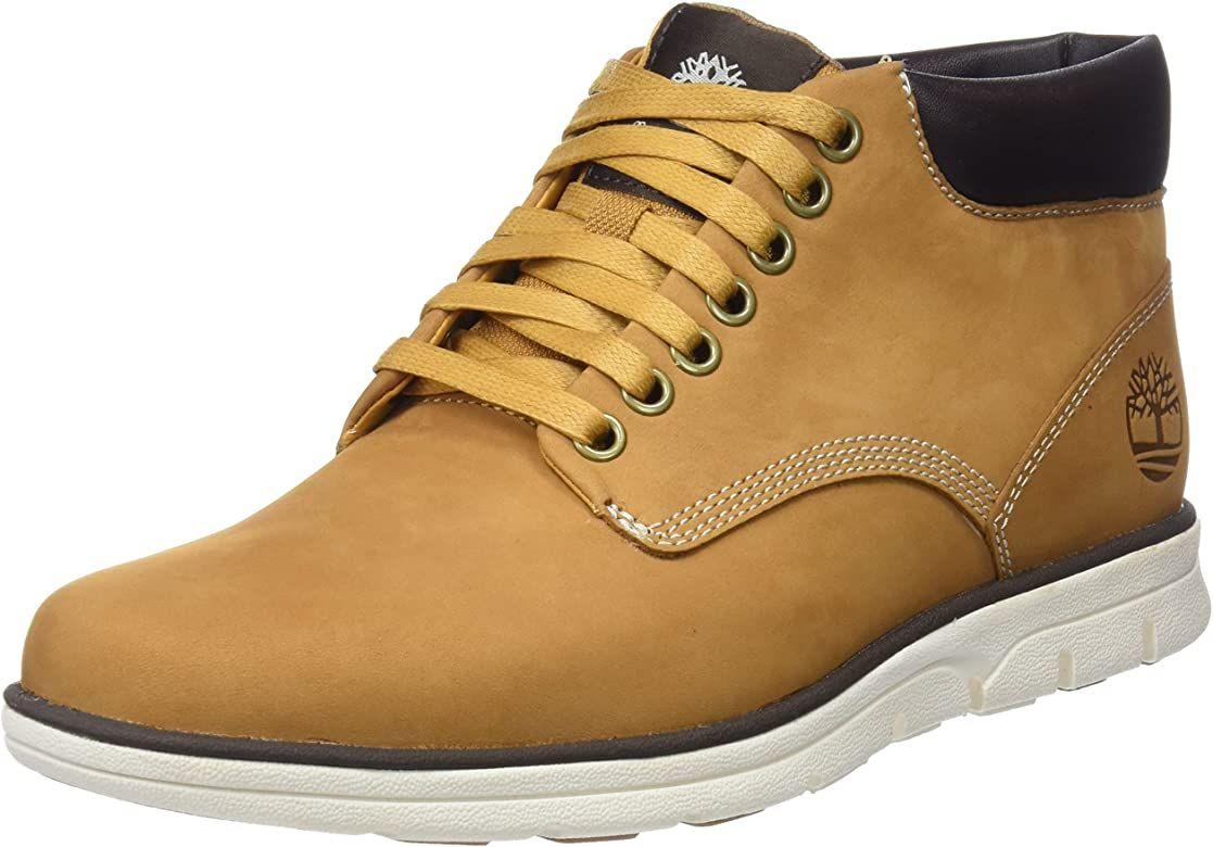 Timberland Bradstreet Chukka Nubuk-Leder Herren-Sneaker/Boots, Wheat Nubuck, Black Nubuck oder Castlerock Grey (Größen von 39,5 bis 50)